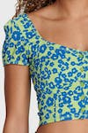 Floral Crop - Blue + Green 9